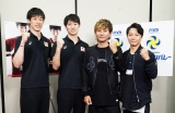 バレーボール日本代表の石川祐希選手(左)柳田将洋選手と対面したポルノグラフィティ
