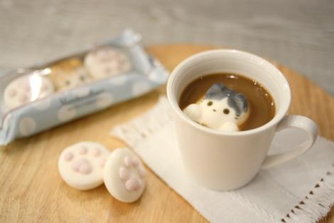 かわいすぎ!温かい飲み物に浮かべて楽しむ猫型マシュマロ