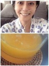 6月20日に更新された記事『オレンジジュース』(写真は小林麻央さんのブログより)