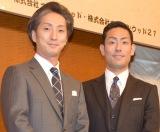 勸玄くんの宙乗りを賞賛した(左から)中村七之助、中村勘九郎 (C)ORICON NewS inc.