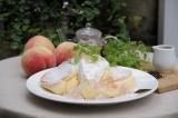 『国産白桃のローズヒップピーチパンケーキ』
