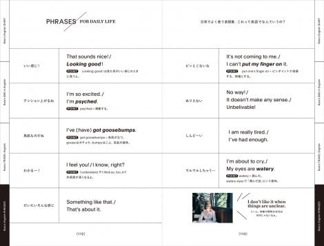 日常によく使う表現方法も紹介/書籍『SPEAK ENGLISH WITH ME!』(税抜1300円/KADOKAWA)より