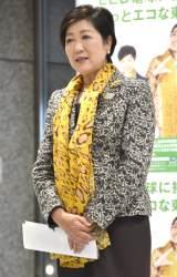 『LED電球交換開始セレモニー』に出席した小池百合子東京都知事 (C)ORICON NewS inc.