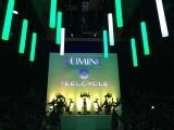 """動く照明""""キネティックライト""""を採用したイベント『LUMINE meets FEELCYCLE』 (C)oricon ME inc."""