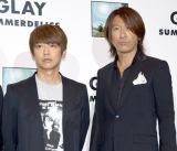 新アルバム『SUMMERDELICS』試聴会後のトークショーに参加した(左から)JIRO、TAKURO (C)ORICON NewS inc.