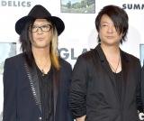 新アルバム『SUMMERDELICS』試聴会後のトークショーに参加した(左から)HISASHI、TERU (C)ORICON NewS inc.