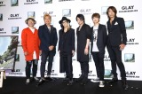 新アルバム『SUMMERDELICS』試聴会後のトークショーに参加した(左から)じゃい、つるの剛士、HISASHI、TERU、JIRO、TAKURO
