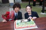 クランクインと上川隆也の誕生日をダブルでお祝い(C)テレビ朝日