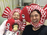 金田朋子の産休中の様子。夫・森渉と2ショット (C)ABC