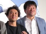 映画『銀魂』初日舞台あいさつに出席した(左から)ムロツヨシ、佐藤二朗 (C)ORICON NewS inc.