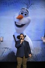 オラフの声優ジョシュ・ギャッド(C)Disney/Pixar.All rights reserved.
