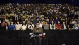 札幌で行われた映画『忍びの国』の舞台あいさつに出席した中村義洋監督