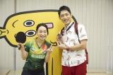 今年の世界卓球で銅メダル獲得を小泉孝太郎に報告(C)テレビ東京