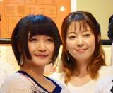 『第二回 神田明神 納涼祭り 2017』のプレス発表会に参加した(左から)清水愛と榎本温子