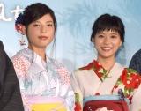 中島健人の秘話を明かした(左から)石井杏奈、芳根京子 (C)ORICON NewS inc.