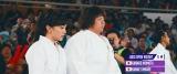 ももいろクローバーZが新曲「BLAST!」MVでアスリートと対戦(写真左から)百田夏菜子、山部佳苗選手