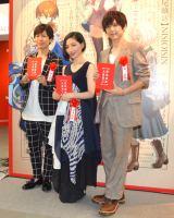 (左から)神谷浩史、坂本真綾、梶裕貴 (C)ORICON NewS inc.