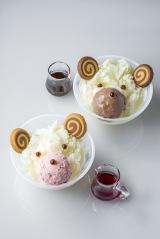 『ベアフルかき氷 ストロベリー/ミルクティー』(税込価格:各800円)