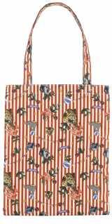 10000円(税抜)以上購入するともらえるネコトートバッグ。閉じるとネコに。