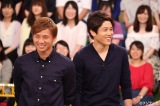 フジテレビ系バラエティ番組『VS嵐』に出演する(左から)乾貴士、内田篤人