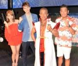『花慶の日2017 超KABUKI祭』に出演した(左から)篠崎愛、JOY、角田信朗、山崎まさや (C)ORICON NewS inc.