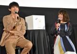 映画『銀魂』& dTV『銀魂 -ミツバ篇-』Wヒット記念!イッキ見上映会に出席した(左から)吉沢亮、北乃きい (C)ORICON NewS inc.