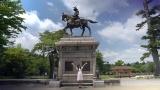 伊達政宗騎馬像前で記念撮影(C)乃木坂46LLC