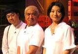 『クレイジージャーニー2時間スペシャル』収録後の囲み取材に出席した(左から) 設楽統、松本人志、小池栄子 (C)ORICON NewS inc.