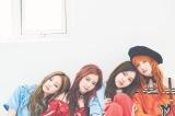 『mini』9月号に登場したBLACKPINK(左からジェニー、ジス、ロゼ、リサ)