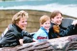 (左から)ダイアナ元妃、ヘンリー王子、ウィリアム王子=フジテレビ系列で『衝撃の死から20年 新証言!悲劇のプリンセス・ダイアナ最後の1日〜追跡!20年目の謎と真相、愛と哀しみの半生〜』が9月1日に放送 写真:アフロ