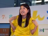 SDGs(持続可能な開発目標)の目標を3つ入れ込んだネタを披露する横澤夏子 (C)ORICON NewS inc.
