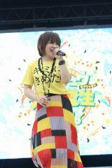 オープニング主題歌「めざせポケモンマスター -20th Anniversary-」を熱唱した松本梨香