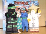 『レゴ ニンジャゴー ザ・ムービー』の公開アフレコを行った(左から)松井恵理子、出川哲朗 (C)ORICON NewS inc.