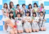 アイドルグループ・アップアップガールズ(仮)の妹分グループ・アップアップガールズ(2)デビューシングル「Sun!×3/二の足Dancing」リリースイベントの模様 (C)ORICON NewS inc.