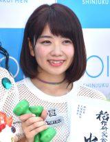 デビューシングル「Sun!×3/二の足Dancing」のリリースイベントに登場したアップアップガールズ(2)の高萩千夏 (C)ORICON NewS inc.