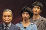 (左から)西田敏行、村上虹郎、寛一郎 (C)ORICON NewS inc.