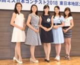 (左から)山田麗美さん、霜野莉沙さん、野田夏希さん、岡部七子さん、高橋茉莉さん (C)ORICON NewS inc.