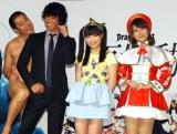 (左から)とにかく明るい安村、庄司智春、LinQ・伊藤麻希、椿姫彩菜 (C)ORICON NewS inc.