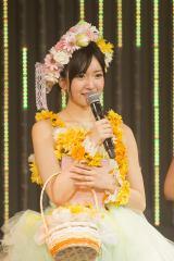 卒業公演であいさつする須藤凜々花(C)NMB48