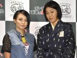 音楽劇『チンチン電車と女学生』制作発表会に出席した(左から)misono、河合美智子 (C)ORICON NewS inc.