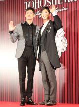 会見を開き、アーティスト活動再開を発表した東方神起(左から)チャンミン、ユンホ (C)ORICON NewS inc.