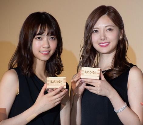 映画『あさひなぐ』完成披露上映イベントに登壇した(左から)西野七瀬、白石麻衣 (C)ORICON NewS inc.