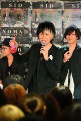 ゆうや=原宿でアルバム発売イベントを開催したシド Photo by:飯岡拓也