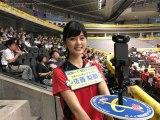 日本テレビ系で放送されている『グラチャンバレー2017』新人・佐藤梨那アナの360度カメラが話題 (C)日本テレビ