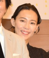 舞台『誰か席に着いて』の製作発表会見に出席した木村佳乃 (C)ORICON NewS inc.