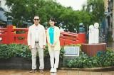 9月30日放送、NHK『ブラタモリ』#85 高知 〜高知の町は なぜ龍馬を生んだ?〜より。はりまや橋でタモリ(左)が「よさこい節」を熱唱!?(C)NHK