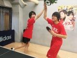 2人で卓球練習に励んだ(C)2017『ミックス。』製作委員会