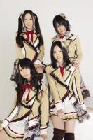 SKE48の(前列左から)高柳明音、松井珠理奈(後列左から)石田安奈、中西優香 (撮影:原田宗孝)