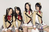 SKE48の(左から)石田安奈、高柳明音、松井珠理奈、中西優香 (撮影:原田宗孝)