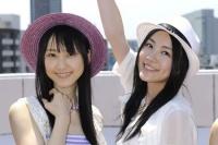 SKE48の(左から)松井玲奈、松井珠理奈  (撮影:原田宗孝)